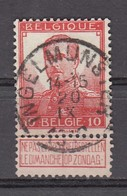 111 Gestempeld INGELMUNSTER - COBA 8 Euro - 1912 Pellens