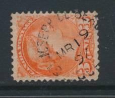 CANADA, 1889 3c (2nd Ottawaw Print) Postmark ST JOSEPH DE BEAUCE (Quebec) - 1851-1902 Regering Van Victoria