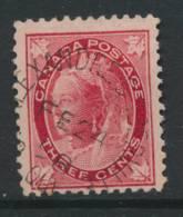 CANADA, 1897 3c With Postmark St ALEXANDRE D'IBERVILLE QUE (Quebec) - 1851-1902 Regering Van Victoria