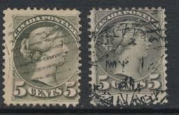 CANADA, 1870 5c Olive, Montreal Plus 2nd Ottawa Prints, SG85106, Cat £19 - 1851-1902 Regering Van Victoria