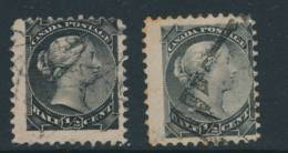 CANADA, 1882 ½c Black+grey-black, SG101102, Cat £26 - 1851-1902 Regering Van Victoria
