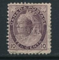 CANADA, 1898 10c Deep Brownish Purple,very Fine, SG164, Cat £14 - 1851-1902 Regering Van Victoria