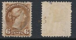 CANADA, 1870 6c Yellow-brown (fine Paper), 1st Ottawa,very Fine, SG86, Cat £23 - 1851-1902 Regering Van Victoria