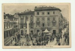 ALESSANDRIA - PIAZZETTA DELLA LEGA E CORS ROMA 1931 VIAGGIATA FP - Alessandria
