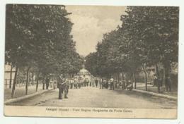 ANAGNI ( ROMA ) VIALE REGINA MARGHERITA DA PORTA CERERE 1919  VIAGGIATA FP - Other
