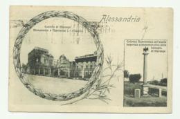 ALESSANDRIA - CASTELLO DI MARENGO - COLONNA NAPOLEONICA 1927  VIAGGIATA FP - Alessandria