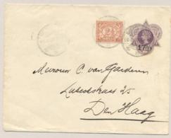 Nederlands Indië - 1925 - 17,5 Op 25 Cent Wilhelmina In Driehoek, Envelop G31 + 2,5 Cent Van Weltevreden Naar Den Haag - Niederländisch-Indien