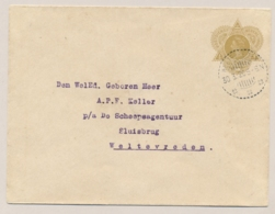 Nederlands Indië - 1920 - 17,5 Cent Wilhelmina In Driehoek, Envelop G32 Lokaal Gebruikt Weltevreden - Nederlands-Indië