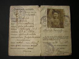 Certificat D'Identité Territoires Ocupés De La RUHR - Historical Documents