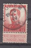 123 Gestempeld ISEGHEM - COBA 4 Euro - 1912 Pellens