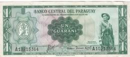 UN GUARANI, PARAGUAY. YEAR 1952-BILLETE BANKNOTE BILLET-BLEUP - Paraguay