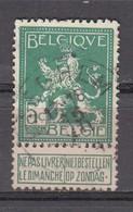 110 Gestempeld ISEGHEM - COBA 4 Euro - 1912 Pellens