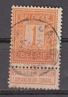 108 Gestempeld JABBEKE - COBA 8 Euro - 1912 Pellens