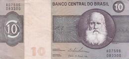 DEZ CRUZEIROS. D PEDRO II. YEAR 1974-BILLETE BANKNOTE BILLET-BLEUP - Brésil