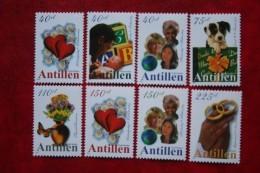 Zegel Voor Bijzondere Gelegenheden Dog Heart NVPH 1298-1305 2000 MNH POSTFRIS NEDERLANDSE ANTILLEN  NETHERLANDS ANTILLES - Curaçao, Nederlandse Antillen, Aruba