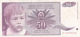 50 DINARA. YUGOSLAVIA. CIRCA 1955-BILLETE BANKNOTE BILLET-BLEUP - Joegoslavië