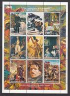 Niger MNH Sheet Eugene Delacroix 1798-1863 - Niger (1960-...)