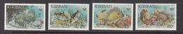 1985 Kiribati Reef Fish Poisson Complete  Set Of 4 MNH - Kiribati (1979-...)