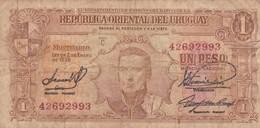 UN PESO.SERIE C URUGUAY. CIRCA 1939-BILLETE BANKNOTE BILLET-BLEUP - Mexique