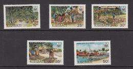1983 Kiribati Copra Industry Coconuts Trees  Complete   Set Of 5 MNH - Kiribati (1979-...)