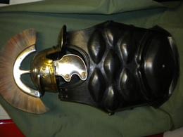 Répliques Portables Casque Romain Et Armure Cuir - Casques & Coiffures