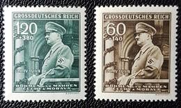 Bohemia And Moravia. 1944 The 55th Anniversary Of The Birth Of Adolf Hitler, 1889-1945.   Nr 115/116. MNH - Bohemen En Moravïe