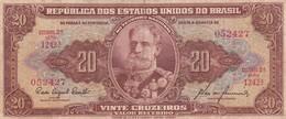 VINTE CRUZEIROS. MARECHAL DEODORO DA FONSECA. SERIE 2A BRASIL. CIRCA 1950s-BILLETE BANKNOTE BILLET-BLEUP - Brazil