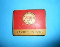 XANTHIA - CIGARETTES EGYPTIENNES ... Vintage Tin Box * LARGER SIZE * Cigarette Zigaretten Sigarette Cigarrillos Cigarros - Boites à Tabac Vides