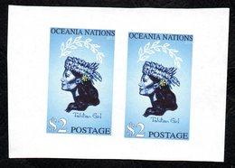 Oceania Post Tahitian Girl Imperf Pair. - New Zealand