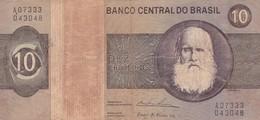 DEZ CRUZEIROS D PEDRO II SERIE A CIRCA 1950s-BILLETE BANKNOTE BILLET-BLEUP - Brazil