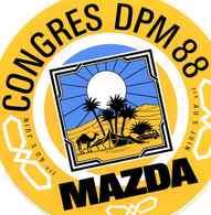 MAZDA - Congrès  D P M JUIN 1988, Dans Le Désert, Chameau 4L - Aufkleber