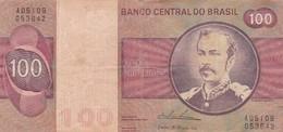 CEM CRUZEIROS FLORIANO PEIXOTO SERIE A CIRCA 1950s-BILLETE BANKNOTE BILLET-BLEUP - Brazil