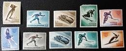 SAN MARINO : 402-10 + LP/PA 105 * MH ; Winter Olympics Cortina 1956 - San Marino