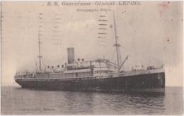 Bs - Cpa S.S. Gouverneur - Général LEPINE - Compagnie Mixte - Steamers