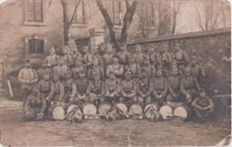 """Bs - Carte Photo Militaria """"groupe De Soldats Du 117ème"""" (tambours) - Regiments"""