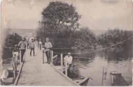 "Bs - Carte Photo Militaria ""pont Flottant - Equipment"