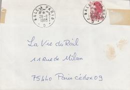 LSC 1988 - Cachet  BALE  A  PARIS  D - Railway Post
