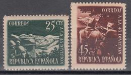 1938 Edifil Nº 787 / 788  /**/ - 1931-Hoy: 2ª República - ... Juan Carlos I