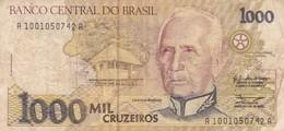 MIL CRUZEIROS, CANDIDO RONDON, SERIEA, BRASIL, CIRCA 1990s-BILLETE BANKNOTE BILLET-BLEUP - Brazil