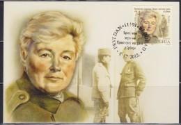 Serbia 2015 British Heroines Of The First World War In Serbia, Officer Flora Sandes, CM - Serbia