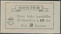 SWEDEN, 1941, Booklet 58 (Facit), Mi 283, Museum Skansen - Boekjes