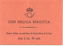 SWEDEN, 1941, Booklet 60 (Facit), Mi 288, S. Birgitta - Boekjes