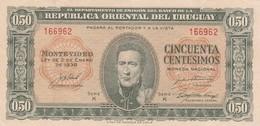 CINCUENTA CENTESIMOS SERIE K URUGUAY. CIRCA 1940-BILLETE BANKNOTE BILLET-BLEUP - Uruguay