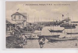 Old Pc Malaysia  Port Swettenham Selangor Stamp Postmark - Malaysia