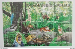 Tanzania 1998** Klb.2952-63. Endangered Species MNH [4;74] - Environment & Climate Protection