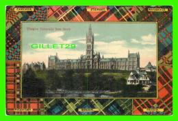 GLASGOW, SCOTLAND - UNIVERSITY FROM THE SOUTH - TRAVEL IN 1907 - THE MILTON GLAZETTE SERIES - - Lanarkshire / Glasgow