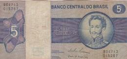 CINCO CRUZEIROS. D.PEDRO I. BRASIL. CIRCA 1950s-BILLETE BANKNOTE BILLET-BLEUP - Brazil