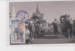 Old Pc  Laos Vientiane éléphant Maxi Maximum Stamp - Stamps (pictures)