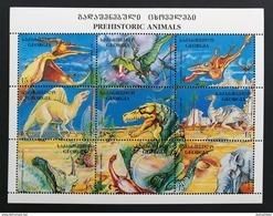 Georgia 1995** Klb.143-151. Prehistoric Animals MNH [13;58] - Prehistorics