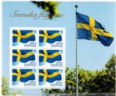 2018 Sweden - Swedish Flag - MS Of 6 V Paper - MNH** - Suède